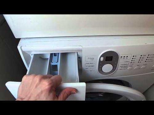 Почистить лоток для порошка в стиральной машине LG, Самсунг