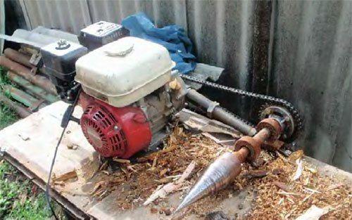 Как сделать дровокол из стиральной машины