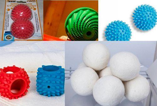 Шарики для стирки стиральной машине: как применять для белья и пуховика