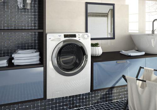 Узкая стиральная машина Haier в интерьере