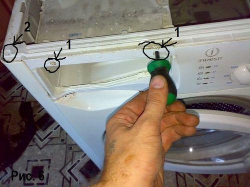 Снятие панели управления стиральной машины индезит