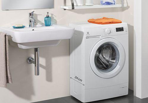 Маленькая стиральная машинка в интерьере
