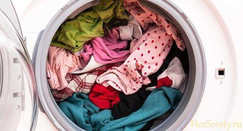 Цветные вещи в стиральной машинке