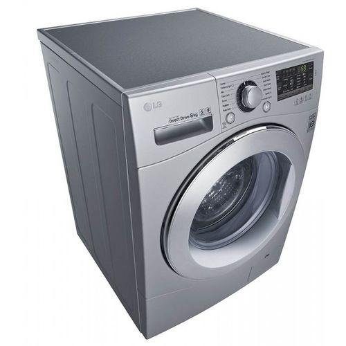 Серебристая стиральная машина
