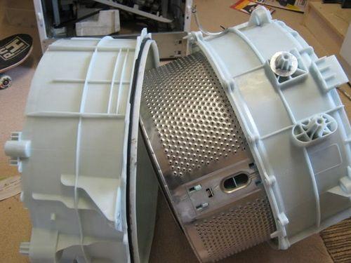 Снятый барабан стиральной машины