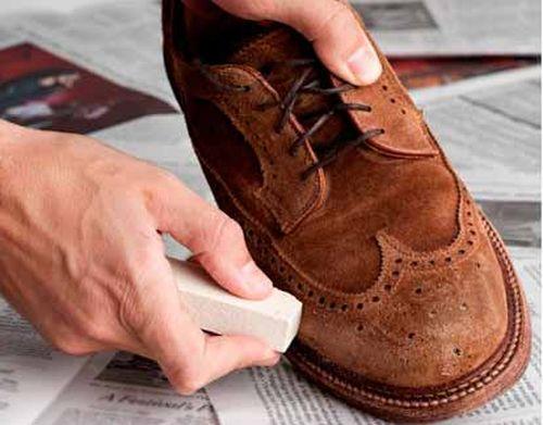 Чистка мужской обуви