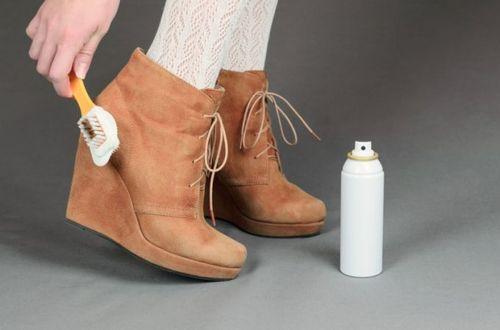 Чистка женской обуви