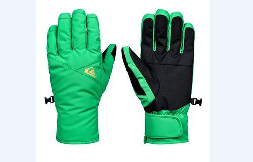Зеленые горнолыжные перчатки