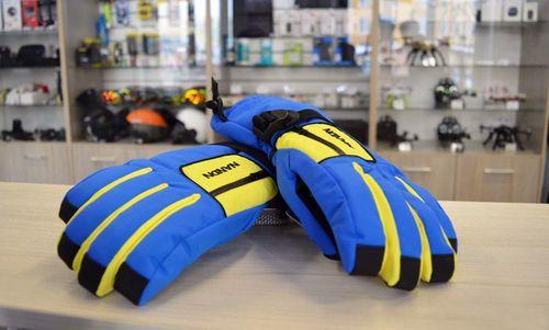 Синие горнолыжные перчатки
