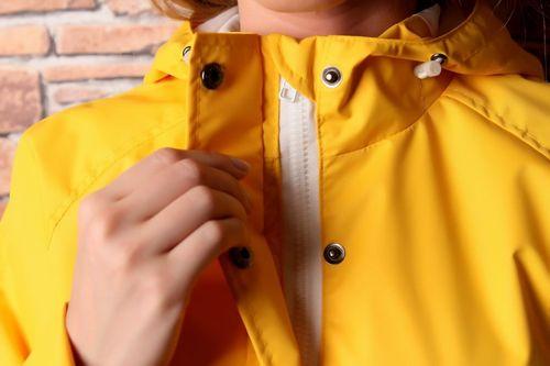 Мембранная желтая куртка