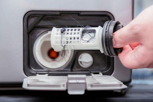 Загрязненный фильтр стиральной машины